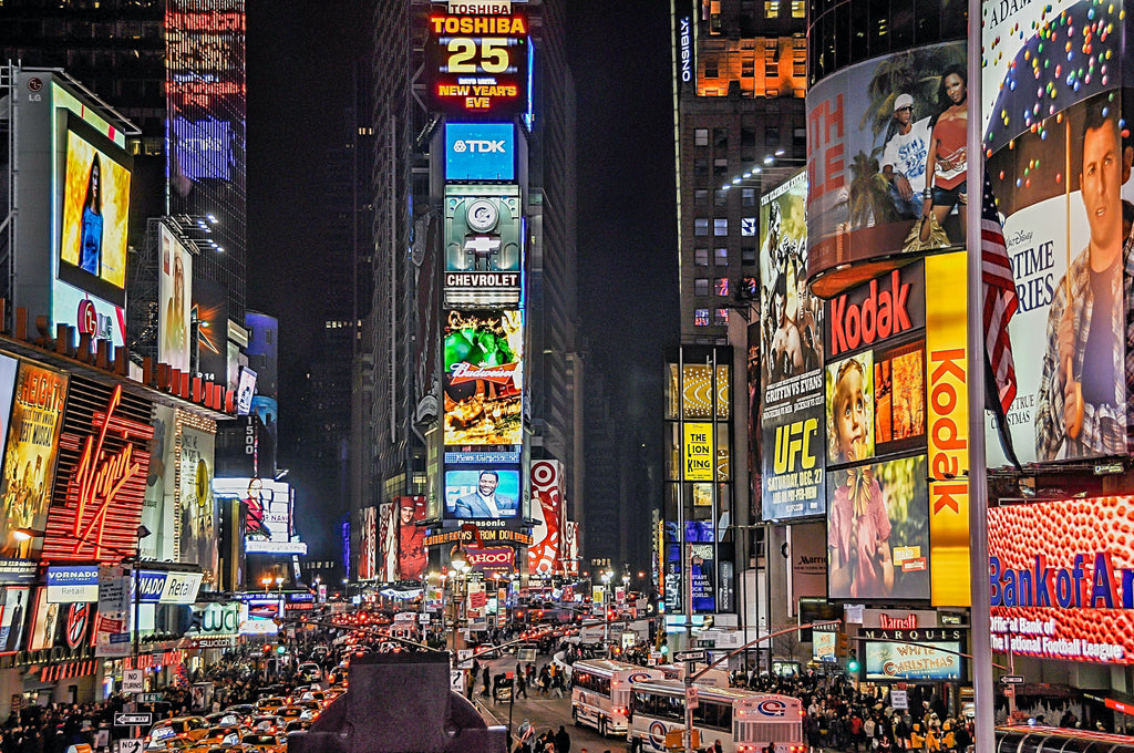 Times Square Demonstrating Mere Exposure Effect for Amazon Listing Optimization