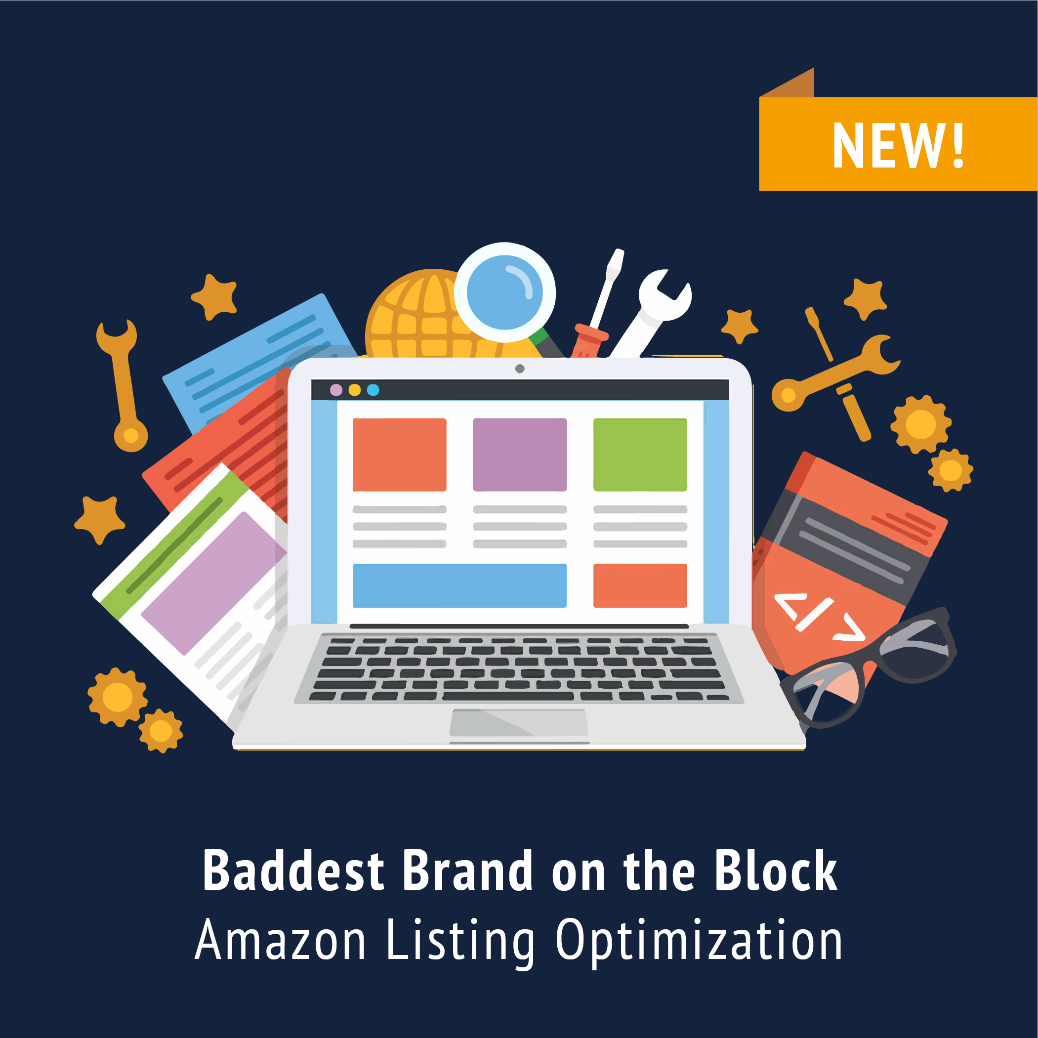 Emmazon bundle Amazon listing optimization with keyword research, EBC or A+ content. Infographic text, and more!