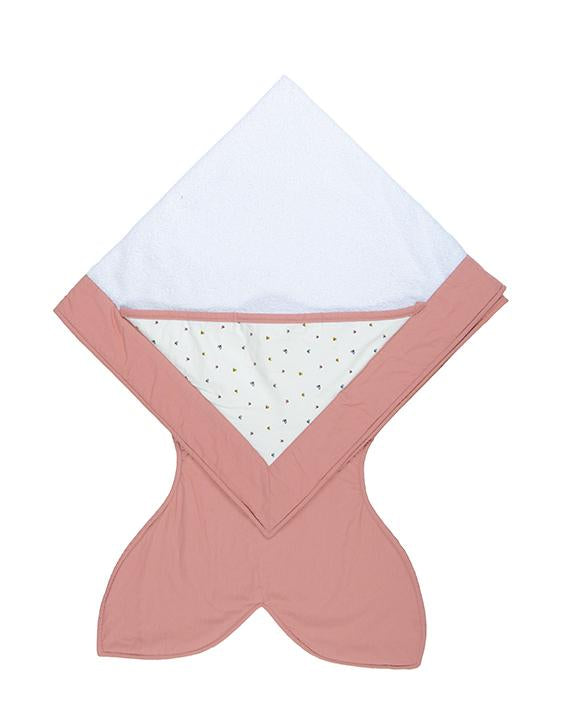 Pink towel - Butterflies pattern