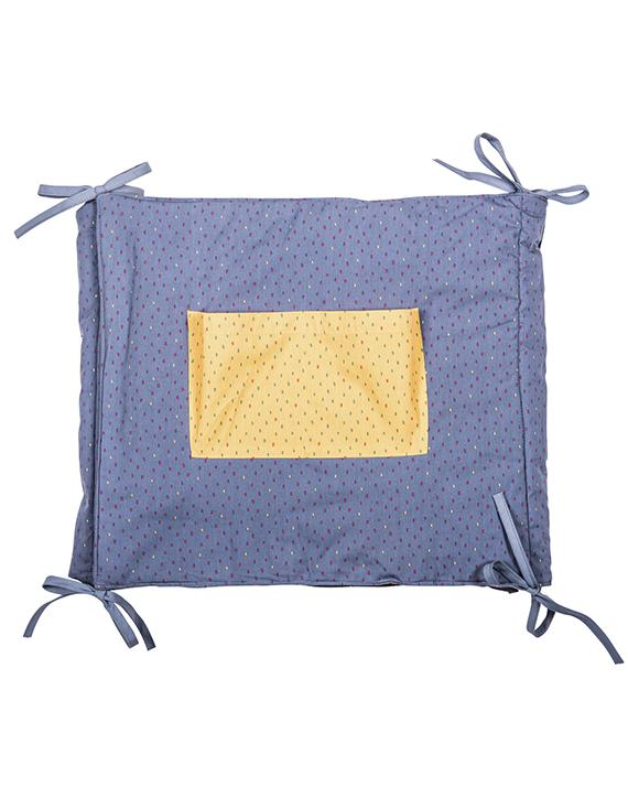 Blue & Yellow polka dot cot protector