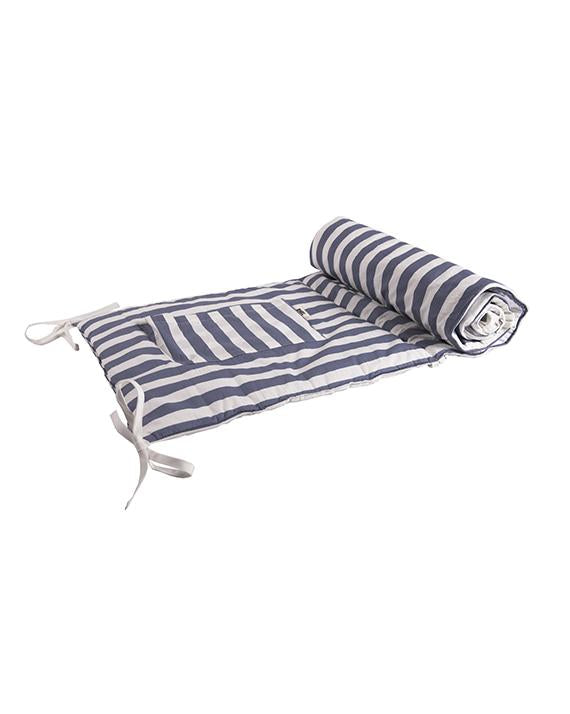 Blue striped Cot Protector