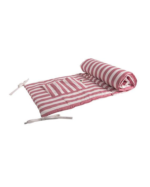 Pink striped Cot Protector