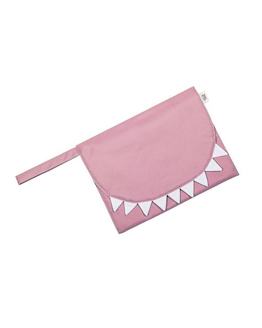 Pink waterproof travel changing mat