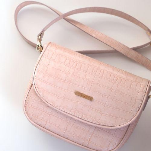 Classic pink shoulder bag