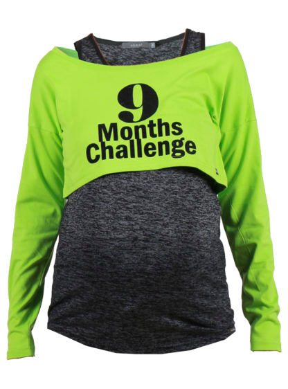 """9 Months Challenge"" Double T-Shirt"