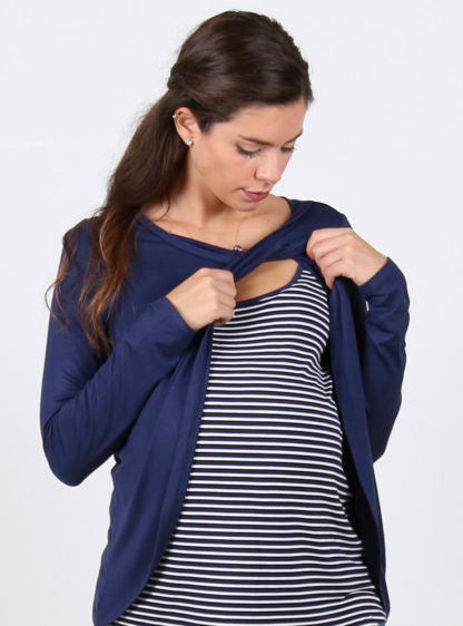 Basic Lactancy T-Shirt With Stripes Inside