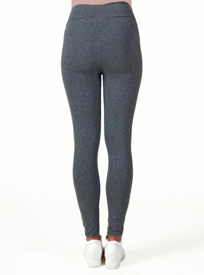 Basic Legging In Grey Melange Color