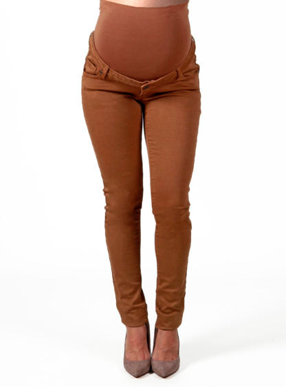 Twill Trouser In Brown Color