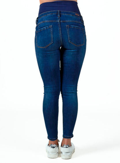 Crop Jeans Trouser With Zippers On Bottom