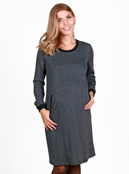 Nursing Dress In Check Fabric