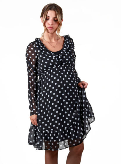 Nursing Dotted Dress