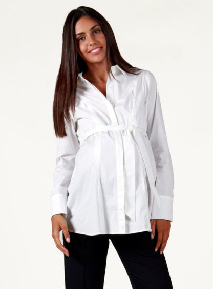 Formal Nursing Shirt With Belt