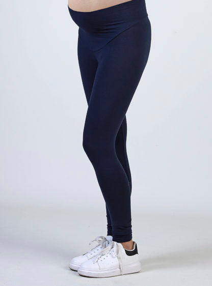 Maternity Basic Legging In Blue Marine