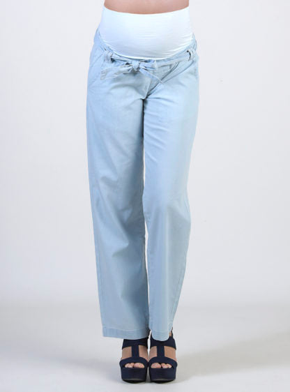 Maternity Wide Long Light Jeans