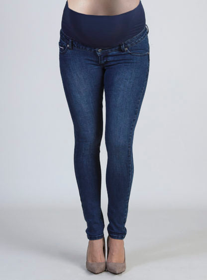 Dark Slim Jeans With High Belly