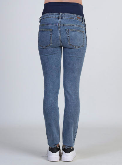 Straight Jeans Maternity With Dark Sides