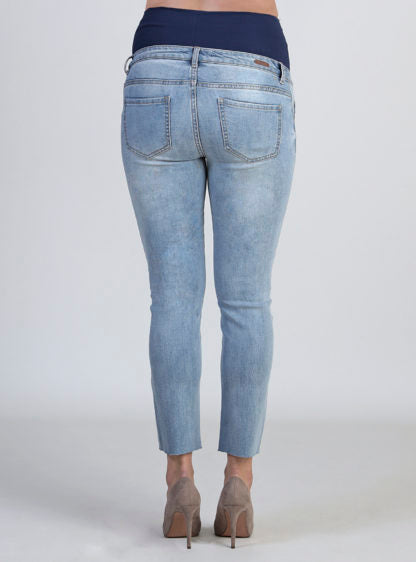 Mom Fit Maternity Jeans With Embroidery