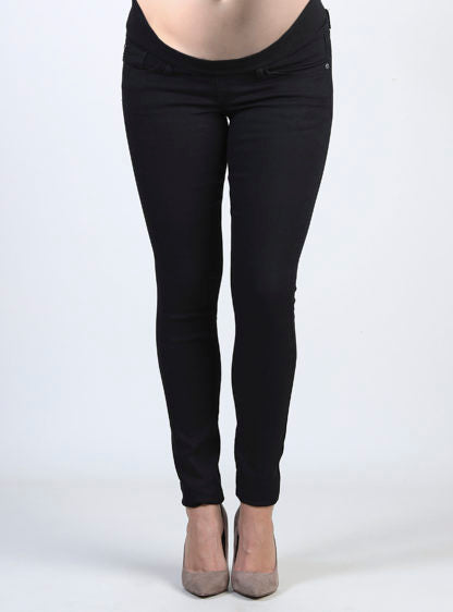 Black Jeans With Low Belly In Rib