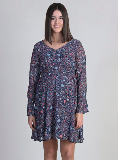 Nursing Printed Georgette Dress