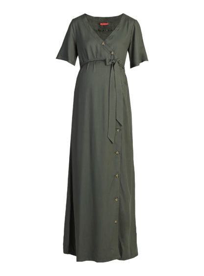 Nursing Maidress With Buttons On Front