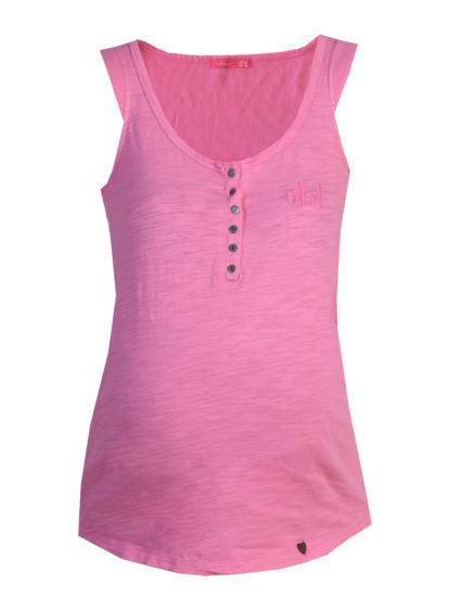 Nursing Basic Tank T-Shirt In Pink