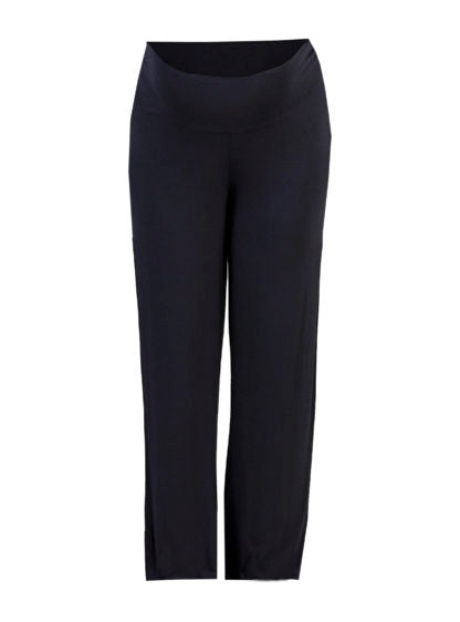Basic Knit Wide Maternity Trouser In Black