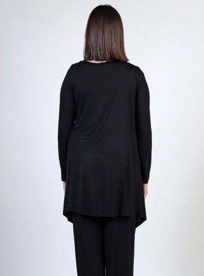 Basic Thin Cardigan In Black