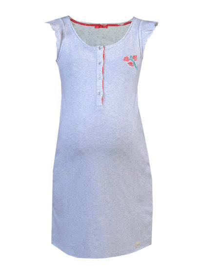 Nursing Nightdress With Embroidery