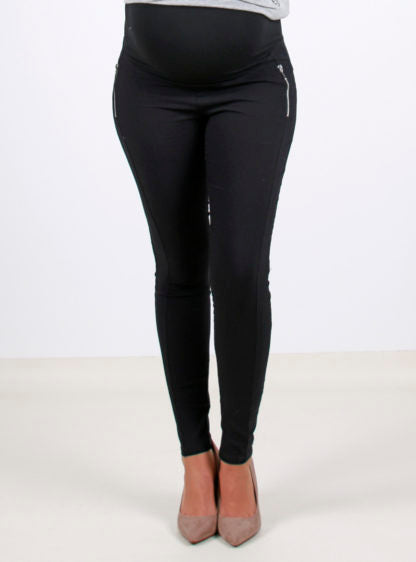 Black Bengal Trousers With Zippers