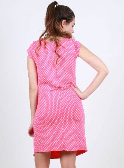 Coral Front Knot Dress
