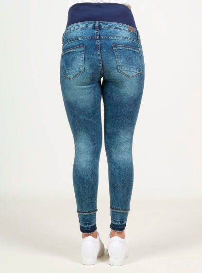 Crop Slim Jeans With High Belly