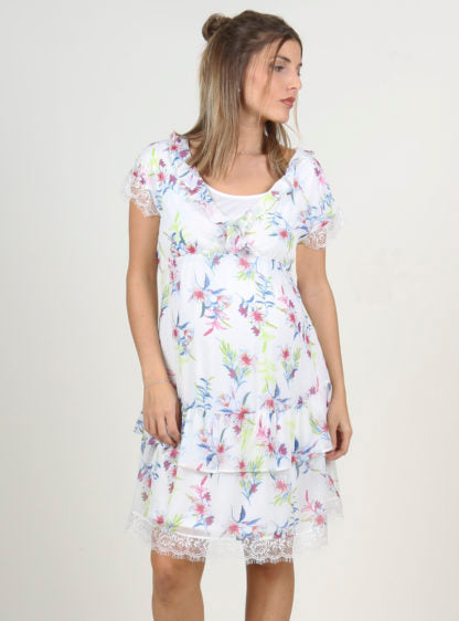 Nursing Flowered Printed Dress
