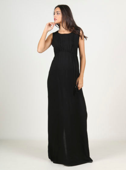 Nursing Maxidress In Black Color