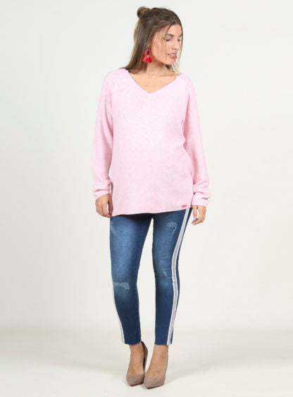 Nursing Basic Pink Sweater
