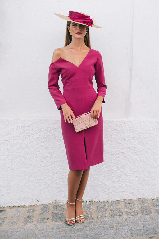 Bruna Raspberry Dress