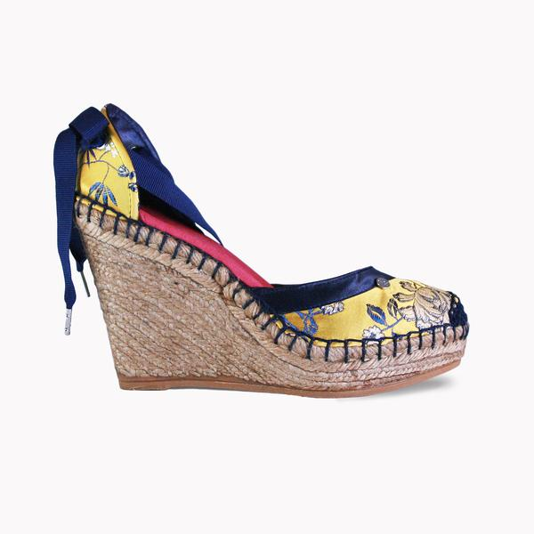 High Wedge Geisa Indigo- Mustard