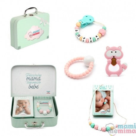 Pink&Mint Baby Basket - Congratulations Mom, Welcome Baby