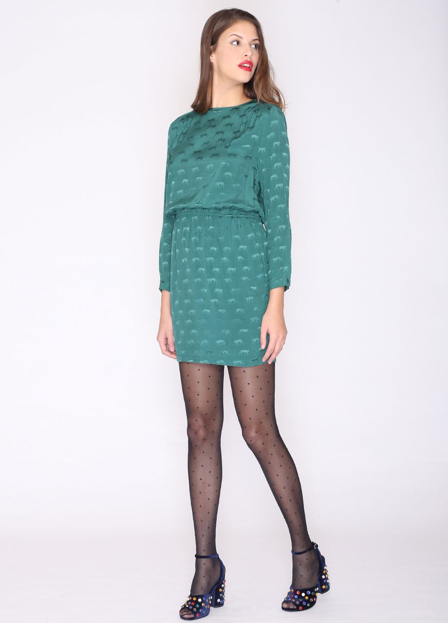 Cheetas Short Dress Green