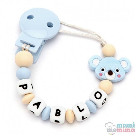 Blue Koala Personalized Silicone Teether Pacifier