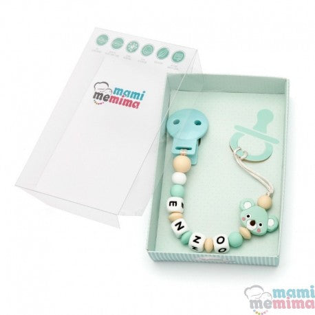 Mint Koala Personalized Silicone Teether Pacifier