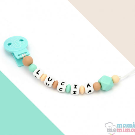 Natural Mint Personalized Silicone Teether Pacifier