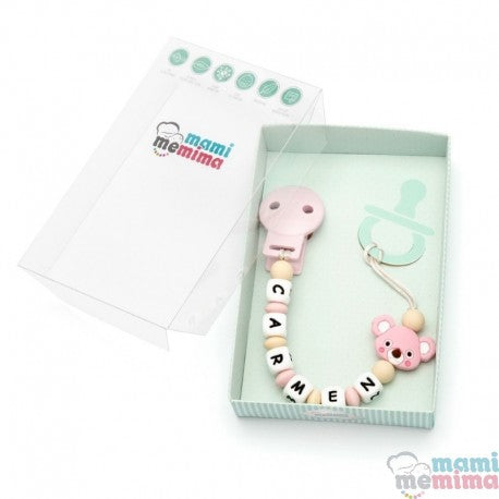 Pink Koala Personalized Silicone Teether Pacifier