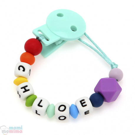Rainbow Personalized Silicone Teether Pacifier