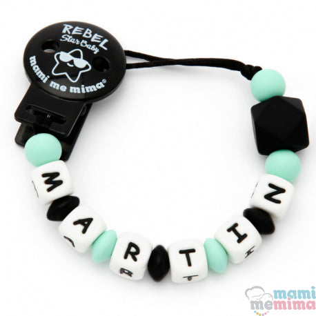 Rebel Baby Mint Personalized Silicone Teether Pacifier