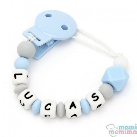 Sweet Blue Personalized Silicone Teether Pacifier