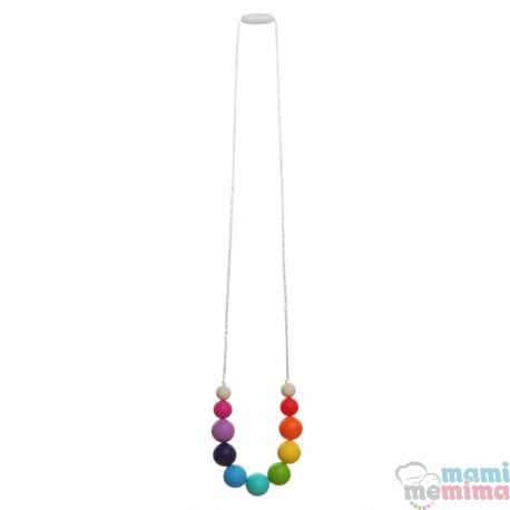 Rainbow Model Silicone Teether Breastfeeding Necklace