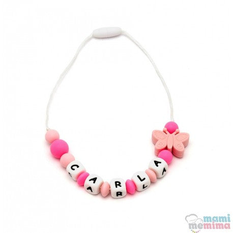 Butterfly Personalized Silicone Teether Necklace For Children