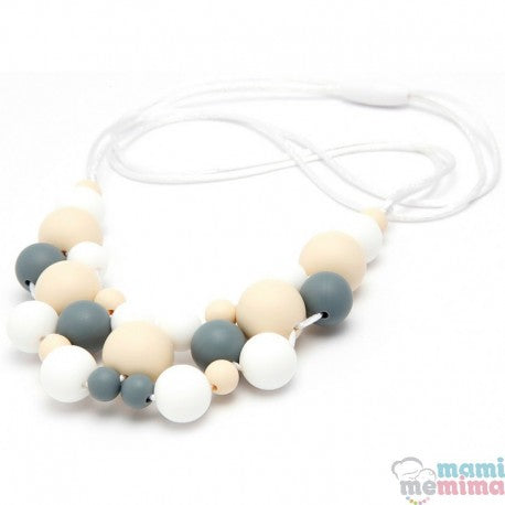 Jewelry Grey Model Silicone Teether Breastfeeding Necklace
