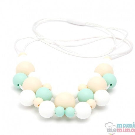Jewelry Mint Model Silicone Teether Breastfeeding Necklace