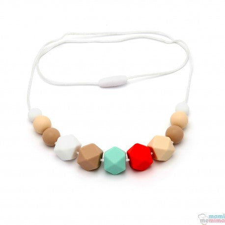 Afrodita Model Silicone Teether Breastfeeding Necklace